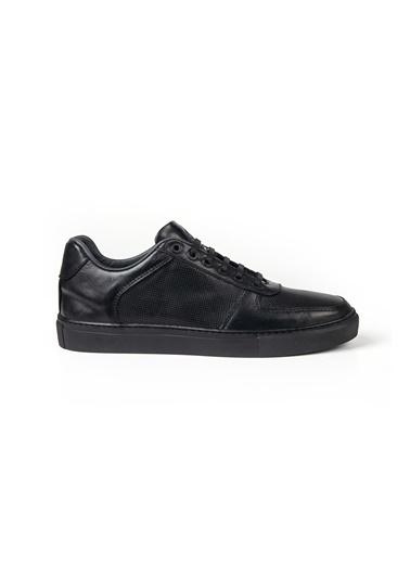 Letoon 2120 Erkek Deri Spor Ayakkabı Siyah
